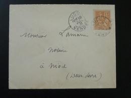Lettre 15c Mouchon Oblit. Luçon 85 Vendée 1901 - Poststempel (Briefe)