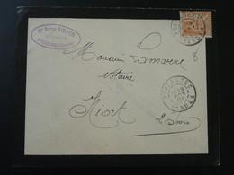 Lettre 15c Mouchon Envoyée Par Un Notaire Pouzauges 85 Vendée 1901 (ex 3) - Storia Postale