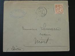 Lettre 15c Mouchon Envoyée Par Un Notaire Benet 85 Vendée 1902 - Storia Postale