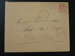 Lettre 15c Mouchon Avec Cachet C + Oblit. Fontaines 85 Vendée 1902 - Storia Postale