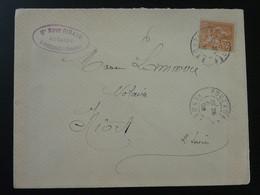 Lettre 15c Mouchon Envoyée Par Un Notaire Pouzauges 85 Vendée 1902 - Storia Postale