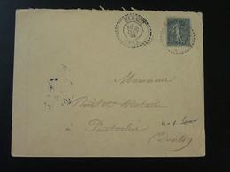 Lettre Cachet Perlé Marnoz 39 Jura 1904 - Storia Postale