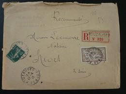 Lettre Recommandée Merson Oblit. Pouzauges 85 Vendée 1918 - Storia Postale