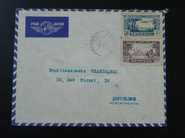 Lettre Par Avion Oblit. Kaolac Senegal 1938 - Sénégal (1887-1944)