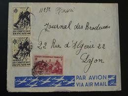 Lettre Par Avion Air Mail Cover AOF Soudan Français 1945 - Lettres & Documents