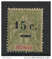 REUNION - YVERT N° 55b * VARIETE PETIT 1 - COTE = 60 EUROS - - Reunion Island (1852-1975)