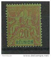 REUNION - YVERT N° 38 * - COTE = 23 EUROS - TYPE GROUPE - Reunion Island (1852-1975)
