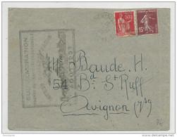 AIRMAIL- 1937 - ENVELOPPE De ISTRES Avec CACHET COMMEMORATIF De La COURSE AERIENNE INTERNATIONALE ISTRES - DAMAS - PARIS - 1927-1959 Brieven & Documenten