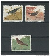 KOREA - YVERT N° 1128/1130 NEUFS - MINT - BIRDS - OISEAUX - Korea, North