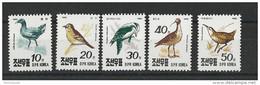 KOREA - YVERT N° 2169/2173 NEUFS ** - MINT MNH - BIRDS - OISEAUX - Korea, North
