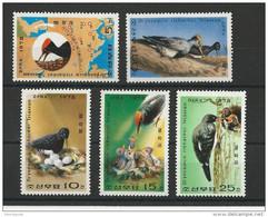 KOREA - YVERT N° 1502/1506 NEUFS ** - MINT MNH - BIRDS - OISEAUX - Korea, North