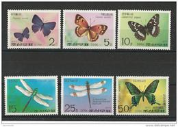 KOREA - YVERT N° 1474/1478 + PA 6 NEUFS ** - MINT MNH - PAPILLONS - BUTTERFLY - Korea, North