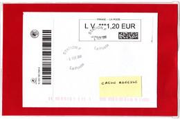 ATM / CALISE Lettre Suivie  LV 1,20 €, Sur Lettre Voyégée Obl Station F 06/02/2018 - 2010-... Illustrated Franking Labels
