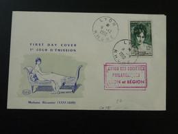 FDC Madame Récamier Lyon 1950 - 1950-1959