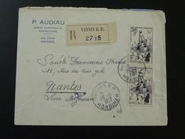 Lettre Recommandée Registered Cover Basketball Oblit. Vannes 56 Morbihan 1957 - Baloncesto
