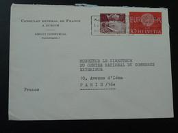 Europa 1960 Sur Lettre On Cover Consulat De France à Zurich Suisse 1960 - Schweiz