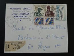 Lettre Recommandée Poste Aérienne Dassault Mystère 20 Tregastel 22 Cotes Du Nord 1970 - 1961-....