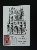 Carte Maximum Card Année Gothique Cathédrale Medieval Amiens 80 Somme 1975 - Churches & Cathedrals