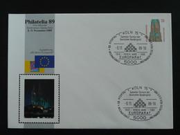 Entier Postal Stationery 40 Ans Parlement Européen Europarat Europe Koln 1989 (ex 1) - Privatumschläge - Gebraucht