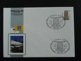 Entier Postal Stationery 40 Ans Parlement Européen Europarat Europe Koln 1989 (ex 2) - Privatumschläge - Gebraucht