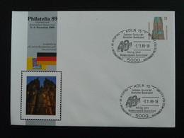 Entier Postal Stationery 40 Ans Parlement Européen Europarat Europe Koln 1989 (ex 3) - Privatumschläge - Gebraucht