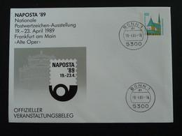 Entier Postal Stationery Naposta Bonn 1989 - Privatumschläge - Gebraucht