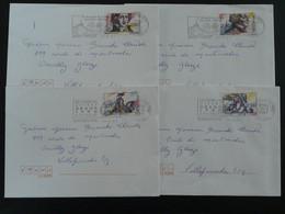 Série Révolution Française 1991 Seuls Sur Lettre 69 Rhone - Marcophilie (Lettres)