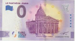 Billet Touristique 0 Euro Souvenir France 75 Panthéon 2020-3 N°UEBG001930 - Private Proofs / Unofficial
