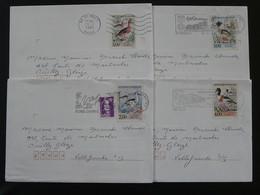 Série Oiseaux Canards Bird Duck Seul Sur Lettre 69 Rhone 1993 - Marcophilie (Lettres)