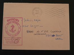 Lettre Franchise Postale Sous-marin Le Triomphant Pli Officiel OMEC Cherbourg Naval 50 Manche 1993 - Poststempel (Briefe)