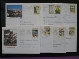 Série Fables De La Fontaine Seuls Sur Lettre 1995 - Marcophilie (Lettres)