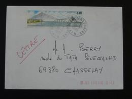 Pont De Normandie Bridge Seul Sur Lettre Oblit. Chezery 01 Ain 1995 - Marcophilie (Lettres)
