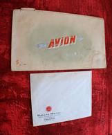 POCHETTE EN CARTON POUR BILLETS AVION Transport Aviation Commerciale Aérienne+Enveloppe Entête RALLYE HOTEL FIGUERAS ESP - Stationery