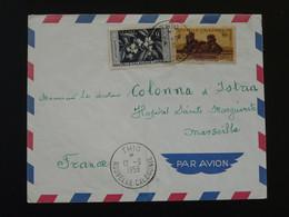 Lettre Affr. Café Coffee Oblit. Thio Nouvelle Calédonie 1959 (4) - Covers & Documents