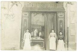 Cpa Carte-photo Commerce, Boucherie - Charcuterie, Postée Vers Châteaurenard ( CPH ), Bouches Du Rhône - Tiendas