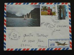 Lettre Illustrée Oblit. Papeete Annexe 1 Polynésie Française 1982 (177) - Covers & Documents