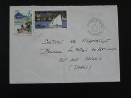 Lettre Oblit. Atuona-Hiva-Oa Iles Marquises Polynésie Française 1994 (191) - Covers & Documents