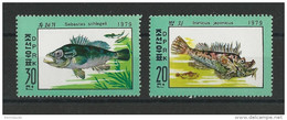 KOREA - YVERT N°1563A/B ** - MNH - FISH - POISSONS - Korea, North