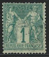 SAGE TYPE N/B - YVERT N°61 OBLITERE - COTE = 110 EUR. - 1876-1878 Sage (Type I)
