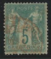 SAGE TYPE N/B - YVERT N°64 OBLITERE ROUGE  - COTE MAURY = 140 EUR. - 1876-1878 Sage (Type I)