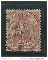 SAGE TYPE N/B - YVERT N°70 OBLITERE  - COTE = 35 EUR. - 1876-1878 Sage (Type I)