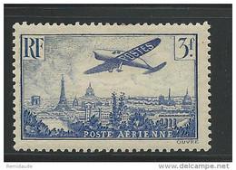 POSTE AERIENNE - YVERT N°12 * - CHARNIERE LEGERE - COTE = 25 EUROS - 1927-1959 Postfris