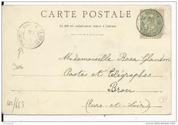 """HAUTE LOIRE - 1902 - CARTE De LE PUY Avec CACHET à DATE """"LE PUY RECETTE PRINCIPALE"""" RARE - BLANC - Storia Postale"""