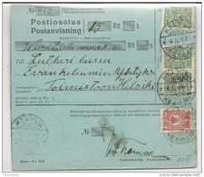 1916 - FINLANDE OCCUPATION RUSSE - CARTE MANDAT POSTAL De HELYLA - Briefe U. Dokumente