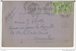 """1899 - LOT ET GARONNE - SAGE - CARTE COMMERCIALE """"CONCOURS POETIQUES"""" à AGEN Pour BRUXELLES - Storia Postale"""