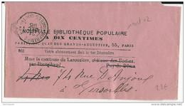 1895 - MAINE ET LOIRE - BANDE JOURNAL Avec CACHET PP Des IMPRIMES De ANGERS - - Storia Postale