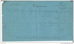 1881 - SOMME - TELEGRAMME De RUE Avec RARE CACHET OCTOGONAL - Storia Postale