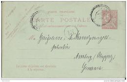 CRETE - MOUCHON - 1908 - CARTE ENTIER AVEC REPONSE PAYEE RARE OBLITEREE CANDIE (IND 18) - Unclassified