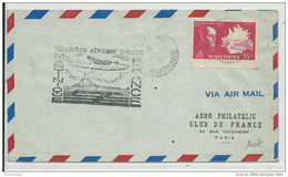 1947 - ENVELOPPE 1° VOL DIRECT MARTINIQUE FRANCE De FORT DE FRANCE Pour PARIS - Eerste Vluchten
