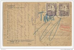 POLOGNE - 1935 - CARTE De GNIEZNO Pour BERLIN Avec TAXE ALLEMANDE - 1919-1939 Republic